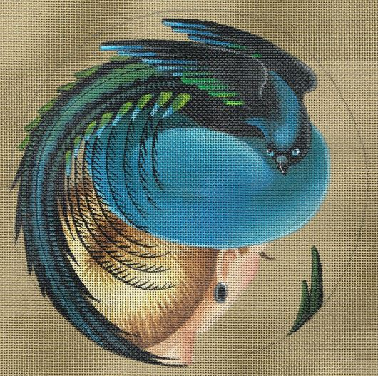 click here to view larger image of Bird of Paradise Hat - Magnificence (hand painted canvases)