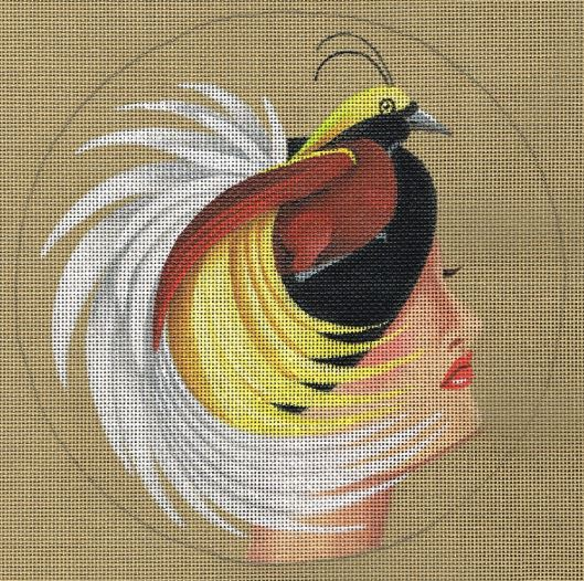 click here to view larger image of Bird of Paradise Hat - Glamorous (hand painted canvases)
