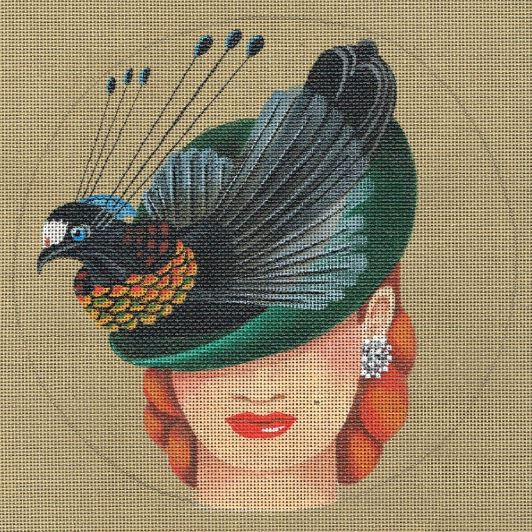 click here to view larger image of Bird of Paradise Hat - Bewitching (hand painted canvases)