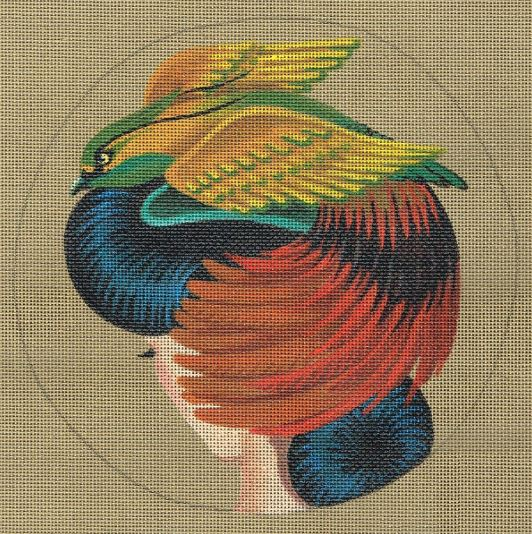click here to view larger image of Bird of Paradise Hat - Extravagance  (hand painted canvases)