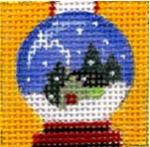 click here to view larger image of Snow Globe   (hand painted canvases)