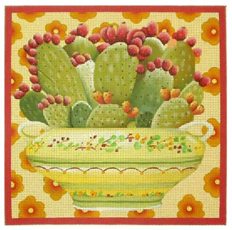 click here to view larger image of Cactus Bowl (hand painted canvases)