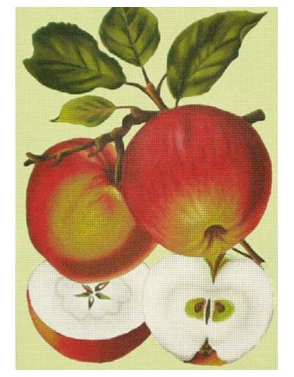 click here to view larger image of Apples/Red (hand painted canvases)