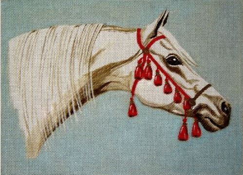 click here to view larger image of Arabian White Horse (hand painted canvases)