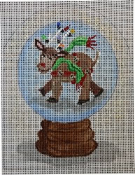 click here to view larger image of Reindeer Snowglobe (hand painted canvases)