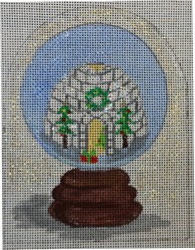 click here to view larger image of Igloo Snowglobe (hand painted canvases)