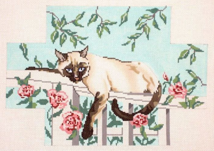 click here to view larger image of Cat Brick Cover (hand painted canvases)