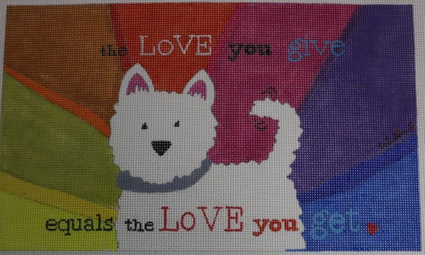 click here to view larger image of Love You Give, The (hand painted canvases)