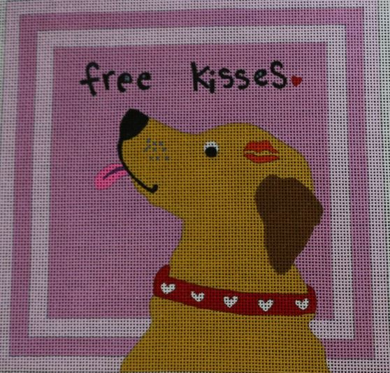 click here to view larger image of Free Kisses (hand painted canvases)