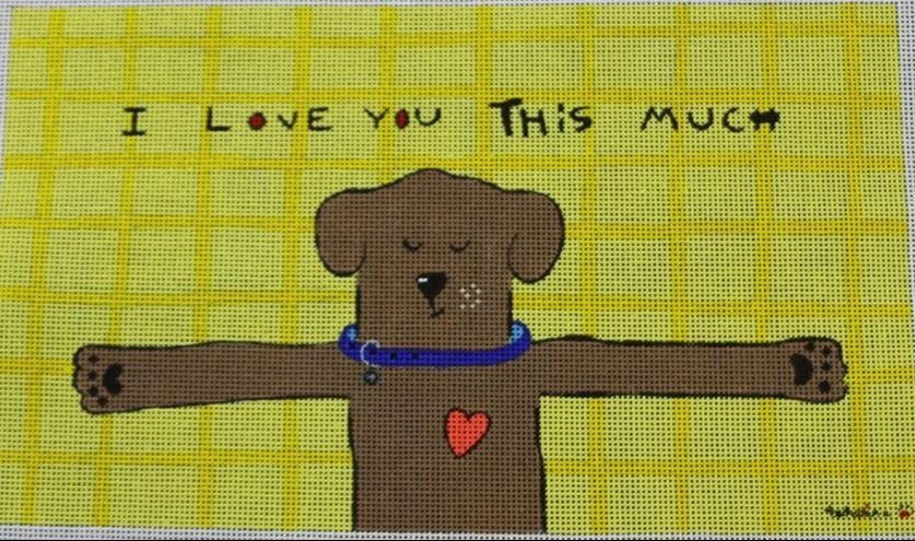 click here to view larger image of I Love You This Much (hand painted canvases)