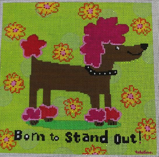 click here to view larger image of Born to Stand Out - Glamour Poodle (hand painted canvases)