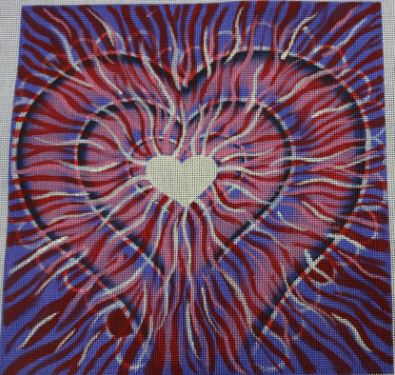 click here to view larger image of Wild Heart (hand painted canvases)