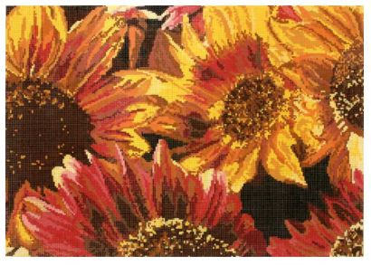 click here to view larger image of Sunflower Bunch (hand painted canvases)