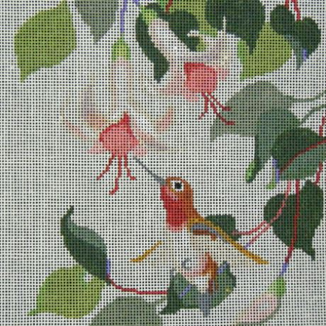 click here to view larger image of Rufous in the Fuchsias (hand painted canvases)