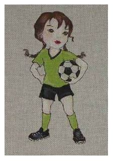 click here to view larger image of Carmy Loves Soccer (hand painted canvases)