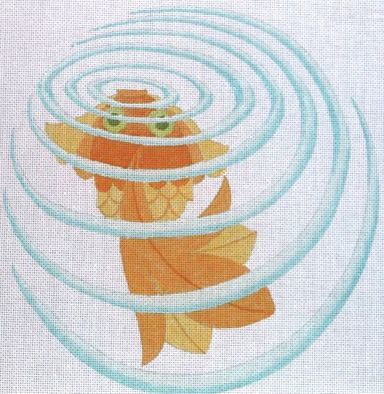 click here to view larger image of Ripples Goldfish (hand painted canvases)