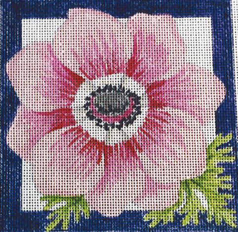 click here to view larger image of Anemone Square (hand painted canvases)