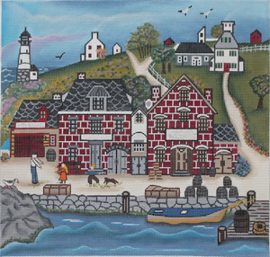 click here to view larger image of New England Dock Yard (hand painted canvases)