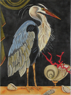 click here to view larger image of Blue Heron (hand painted canvases)