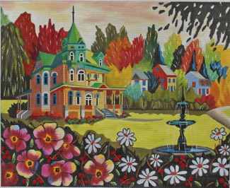 click here to view larger image of Chateau Richard (hand painted canvases)