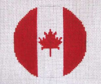 click here to view larger image of Canadian Flag   (hand painted canvases)