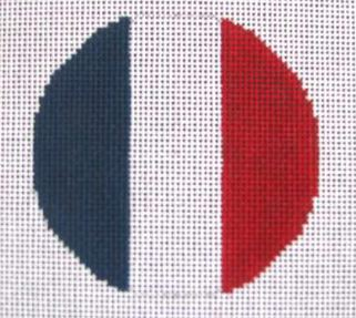 click here to view larger image of French Flag   (hand painted canvases)