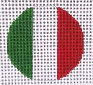 click here to view larger image of Italian Flag   (hand painted canvases)