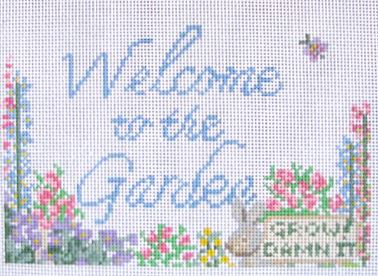 click here to view larger image of Garden Welcome (hand painted canvases)