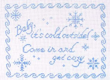 click here to view larger image of Baby Its Cold Outside (hand painted canvases)