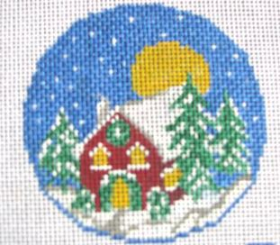click here to view larger image of Cozy Cabin (hand painted canvases)