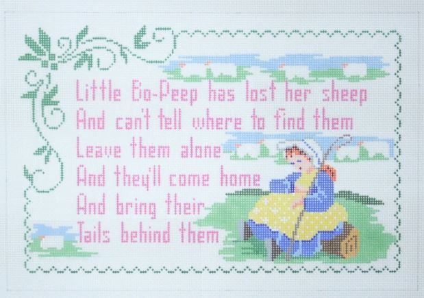 click here to view larger image of Little Bo Peep (hand painted canvases)
