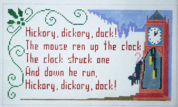 click here to view larger image of Hickory Dickory Dock (hand painted canvases)