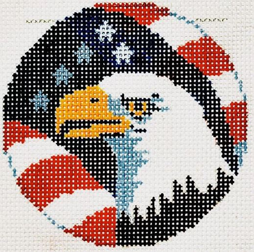 click here to view larger image of American Eagle (hand painted canvases)