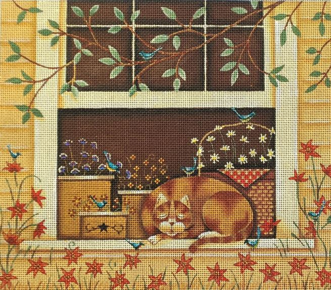 click here to view larger image of Cat Days of Summer (hand painted canvases)