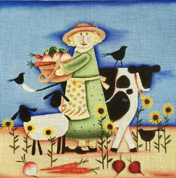 click here to view larger image of Farm Girl (hand painted canvases)