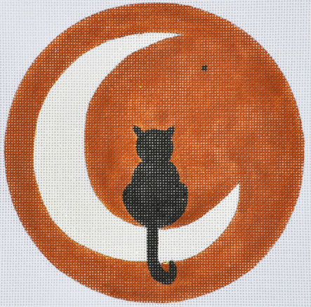 click here to view larger image of Moon Pie Kitty (hand painted canvases)