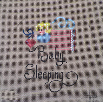 click here to view larger image of Baby Sleeping - Girl (hand painted canvases)