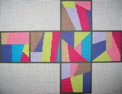 click here to view larger image of 3D Cubes - Stained Glass (hand painted canvases)