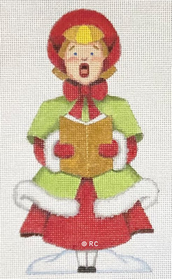 click here to view larger image of Girl Caroler (hand painted canvases)