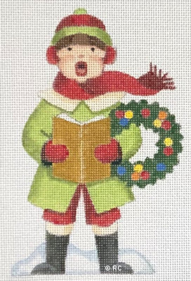 click here to view larger image of Boy Caroler (hand painted canvases)