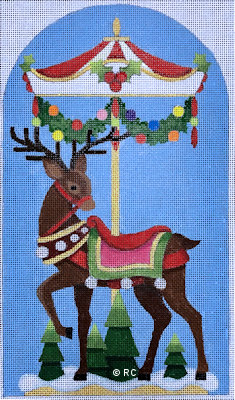 click here to view larger image of Reindeer Carousel 1 (hand painted canvases)
