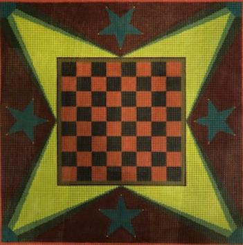 click here to view larger image of Checkers (hand painted canvases)