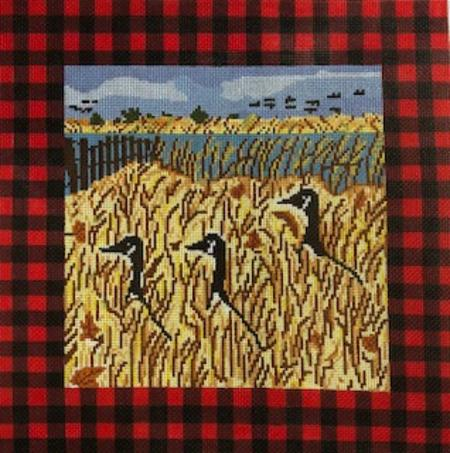 click here to view larger image of Geese in Grass (hand painted canvases)