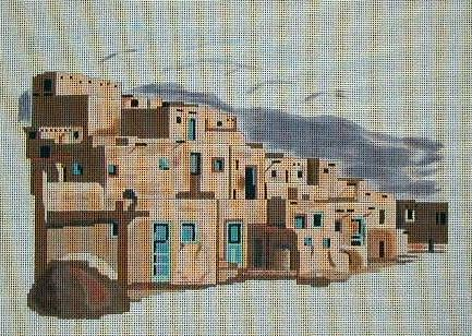 click here to view larger image of Taos Pueblo NM (hand painted canvases)
