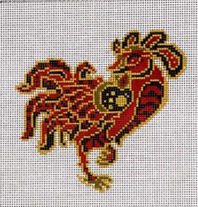 click here to view larger image of Chinese Zodiac - Rooster (hand painted canvases)