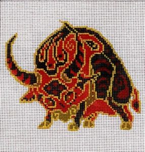 click here to view larger image of Chinese Zodiac - Ox (hand painted canvases)