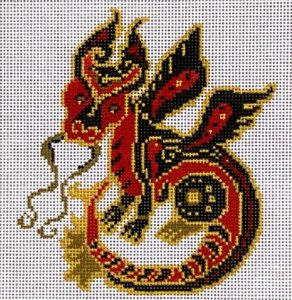 click here to view larger image of Chinese Zodiac - Dragon (hand painted canvases)