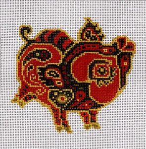 click here to view larger image of Chinese Zodiac - Pig (hand painted canvases)