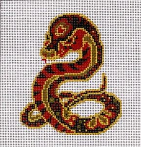 click here to view larger image of Chinese Zodiac - Snake (hand painted canvases)