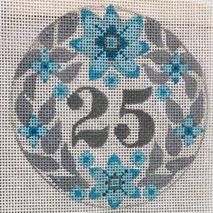 click here to view larger image of 25th Anniversary Round (hand painted canvases)